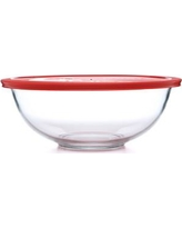 Pyrex Smart Essentials 4 Qt Mixing Bowl with Red Plastic Cover 1069533