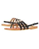 Victoria K Women's Crossover Straps Sandal's with Small Medallions