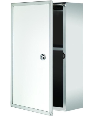 D Framed Lockable Surface Mount Bathroom Medicine Cabinet Only Silver Impact Rad Croydex T 15 3 4 In H X 9 21 25