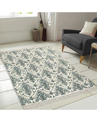 Special Prices On Charlton Home Bernhardt Printed Vintage Handwoven Flatweave Teal Area Rug X111349873