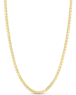 """Jared The Galleria Of Jewelry Box Chain Necklace 14K Yellow Gold 24"""""""