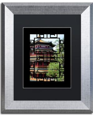 """Trademark Art """"Temple"""" by Philippe Hugonnard Framed Photographic Print PH0525-S1 Size: 20"""" H x 16"""" W x 0.5"""" D Matte Color: Black"""