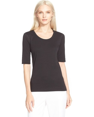 75d4d73947 Don't Miss This Deal on Women's Theory Pima Cotton Top, Size Petite ...