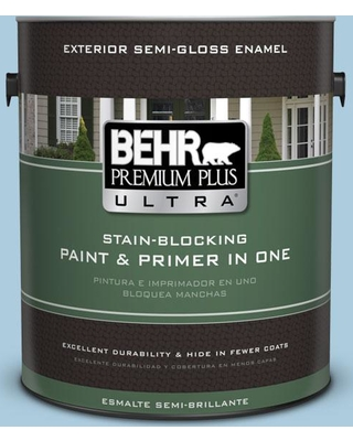 BEHR Premium Plus Ultra 1 gal. #M500-2 Early September Semi-Gloss Enamel Exterior Paint and Primer in One