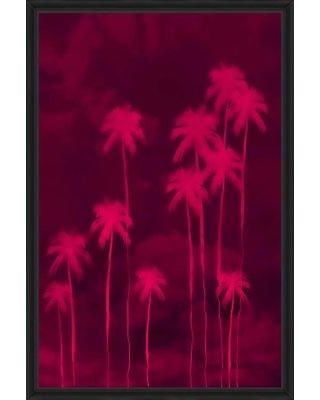 Ivy Bronx 'Palms IV' Framed Graphic Art Print on Canvas IVBX3410