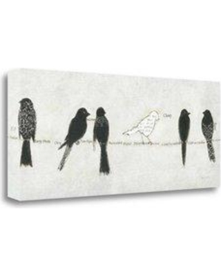 """Tangletown Fine Art 'Catching Up I' by Emily Adams Graphic Art on Wrapped Canvas WA612807-2812c Size: 13"""" H x 32"""" W"""