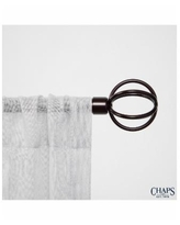 Chaps Home Cage, Window Curtain Rod and Finial Set - Bronze