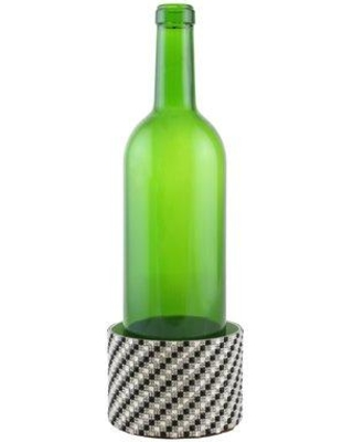 Everly Quinn Surface Protector Metal Decorated Wine Bottle Coaster EYQN1432