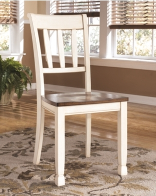Whitesburg Dining Room Chair (Set of 2), Brown/Cottage White