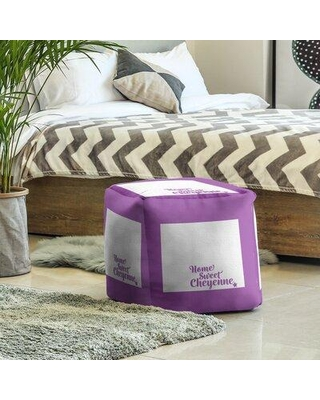 East Urban Home Cheyenne Wyoming Cube Ottoman EBJC3347 Upholstery Color: Violet