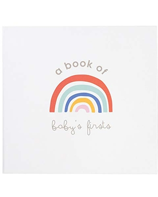 C.R. Gibson Rainbow ''A Book of Baby's Firsts'' Baby First Year Memory Book with Ink Pad, 36 Pages, 9.5'' x 9''