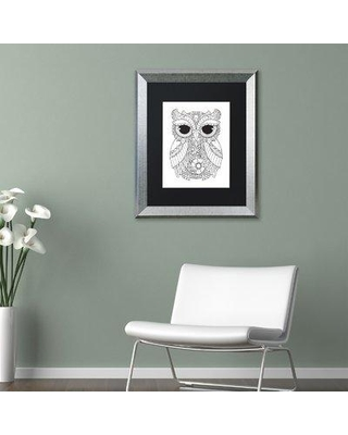 "East Urban Home 'Owl III' Framed Graphic Art ETRB1969 Size: 14"" H x 11"" W x 0.5"" D Matte Color: Black"