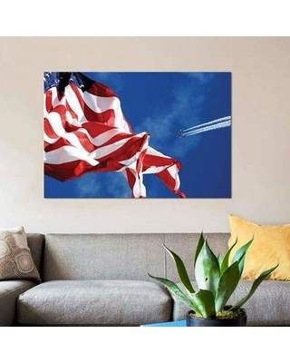 """East Urban Home 'The Blue Angels Performing at an Air Show During El Paso Navy Week' Graphic Art Print on Canvas EBHR3951 Size: 8"""" H x 12"""" W x 0.75"""" D"""