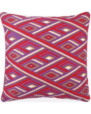 Sis Boom by Jennifer Paganelli Marcella Bargello Linen Throw Pillow 30JP22 Color: Red