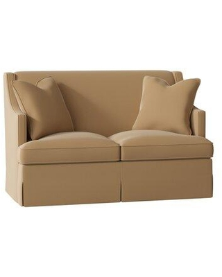 """Duralee Furniture Cardiff 60"""" Recessed Arm Loveseat WPG10-615-60 Body Fabric: Avery Cocoa"""
