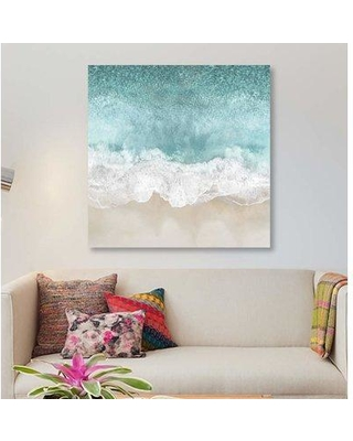 """East Urban Home 'Ocean Waves I' Graphic Art Print on Canvas EBHV1584 Size: 37"""" H x 37"""" W x 1.5"""" D"""