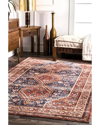 New Deal For Nuloom Idalia Tribal Rust 9 Ft X 12 Ft Area Rug Red