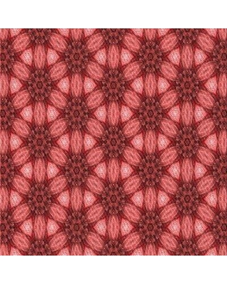 East Urban Home Patterned 2557 Red Area Rug W002527485 Rug Size: Square 5'