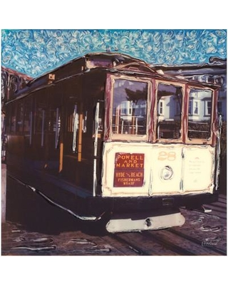 West of the Wind Cable Car Framed Painting Print on Wrapped Canvas 80252-24
