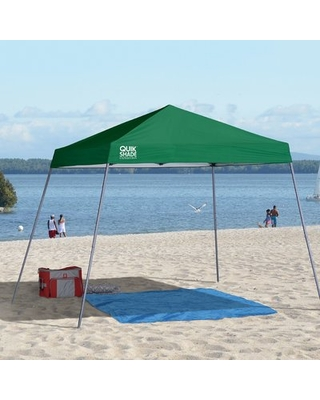 Expedition 10 Ft. W x 10 Ft. D Metal Pop-Up Canopy QuikShade Color: Green