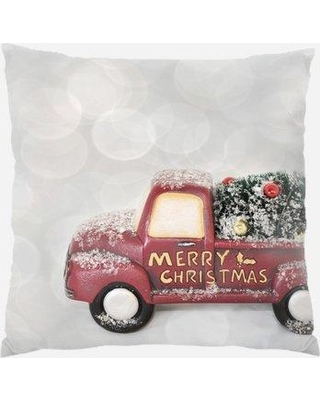 The Holiday Aisle Rayne Merry Christmas Indoor/Outdoor Canvas Throw Pillow W001275969