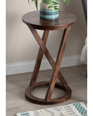 Find Savings On Cruz Solid Wood Cross Legs End Table Gracie Oaks
