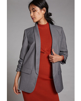 Cinch-Sleeved Blazer By Mare Mare in Grey Size L