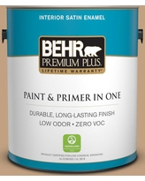 New Deals On Behr Premium Plus 5 Gal Mq2 12 Milano Satin Enamel Low Odor Interior Paint And Primer In One
