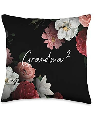 2nd time grandma store 2nd second time grandma twins Throw Pillow, 16x16, Multicolor