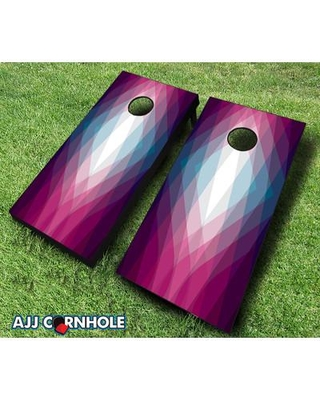 AJJCornhole 10 Piece Magenta Crystal Cornhole Set 107-Magenta Crystal with red/ bags Bag Color: Red/Royal