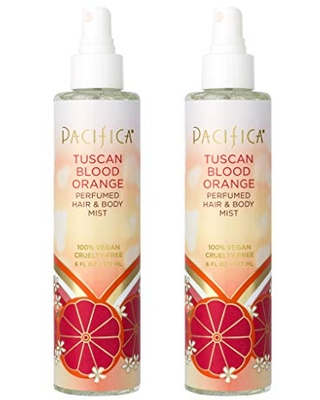 Pacifica Perfumed Hair and Body Mist Tuscan Blood Orange, 6 Fl Oz,Pack of 2