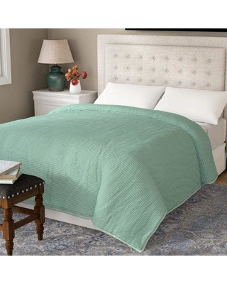 Three Posts Spurling Hill Quilt Throw TRPT1676 Color: Taupe Stripe
