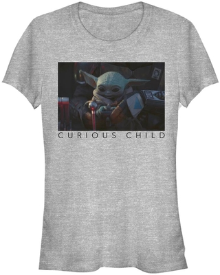 Star Wars The Mandalorian The Child Curious Photoreal Girls T-Shirt