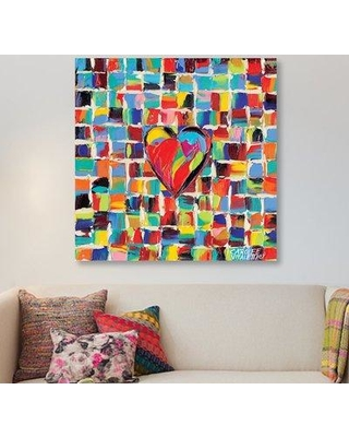"""East Urban Home 'Love of Color I' Painting Print on Wrapped Canvas ESRB9607 Size: 26"""" H x 26"""" W x 0.75"""" D"""