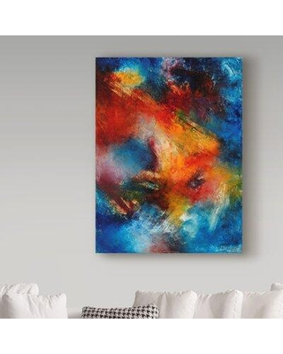 """Trademark Fine Art 'A Star Is Born' Acrylic Painting Print on Wrapped Canvas ALI37746-CGG Size: 19"""" H x 14"""" W x 2"""" D"""