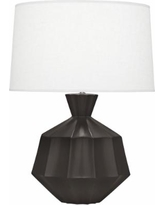 Robert Abbey Orion Matte Coffee Ceramic Table Lamp
