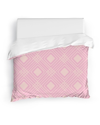 CRISS CROSS DIAMONDS PINK Duvet Cover By Kavka Designs (N/A - King)