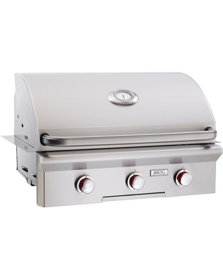 """30NBT00SP 30"""" T Series Built-In Natural Gas Grill with 540 sq. in. Grilling Surface 45000 BTU Total Main Burner Output Warming Rack and Drip Tray"""