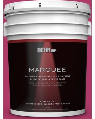 BEHR MARQUEE 5 gal. Home Decorators Collection #HDC-SM16-04 Bing Cherry Pie Flat Exterior Paint & Primer