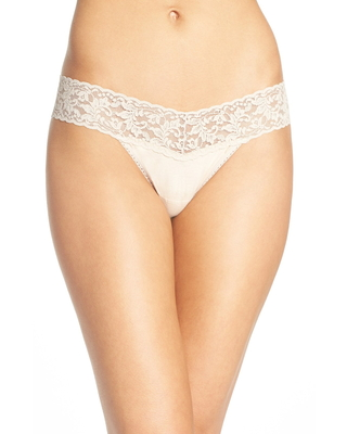 Hanky Panky Low Rise Thong in Chai at Nordstrom