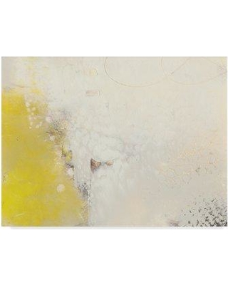 """Ebern Designs 'Yellow Lux I' Acrylic Painting Print on Wrapped Canvas W001236835 Size: 14"""" H x 19"""" W x 2"""" D"""