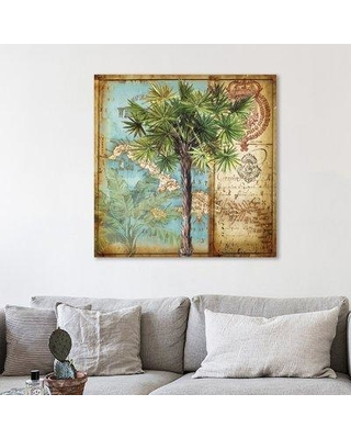 Find The Best Deals On Bay Isle Home Antique Palm Tree Ii Graphic Art Print On Wrapped Canvas Canvas Fabric In Brown Blue Green Size 24 H X 24 W Wayfair