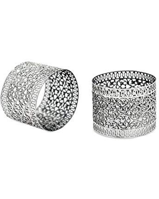 Sterling Silver Napkin Rings with delicate filigree design