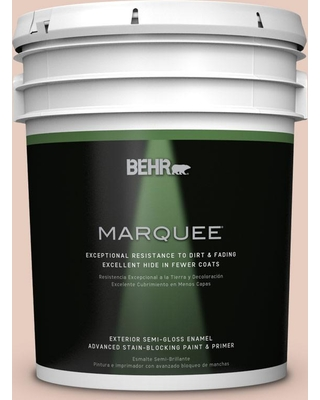 BEHR MARQUEE 5 gal. #T17-05 Life is a Peach Semi-Gloss Enamel Exterior Paint and Primer in One
