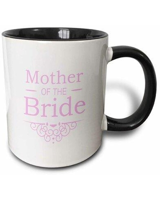 Winston Porter Robson Mother of The Bride Coffee Mug X111154942 Color: Black/Pink Capacity: 11 oz. Theme: Mother of the Bride