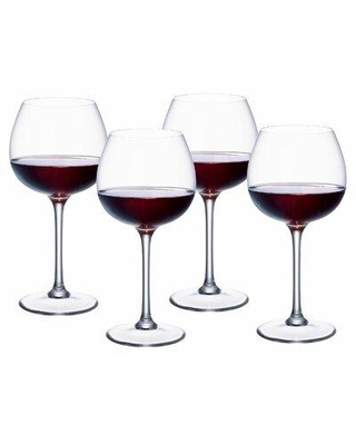 """Villeroy & Boch Purismo 16 oz. Crystal All Purpose Wine Glass, Crystal in Clear, Size 8""""H X 3""""W 