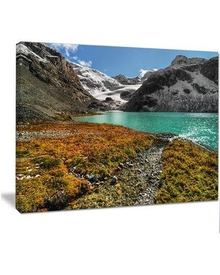 "Design Art 'Crystal Clear Lake among Mountains' Photographic Print on Wrapped Canvas PT14511- Size: 30"" H x 40"" W"