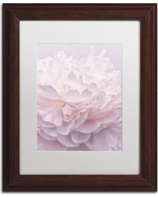 "House of Hampton 'Pink Peony Petals I' Framed Photographic Print HOHP9969 Size: 20"" H x 16"" W x 0.5"" D Format: Brown"