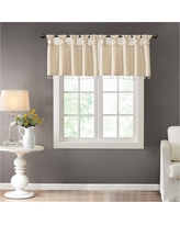 Lillian Twisted Tab Valance With Beads - Champagne (Beige) - (50x26)