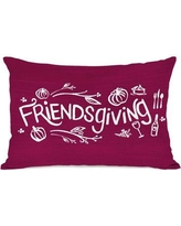 The Holiday Aisle Friendsgiving Lumbar Pillow THLY3253